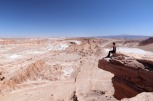 The view over the Valle de la Luna (Valley of the moon)
