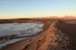 The Valle de la Luna (Valley of the Moon) at sunset