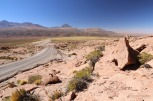 A winding Atacama desert road